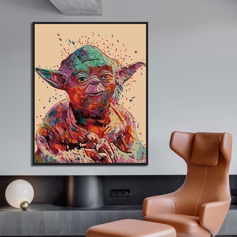 Painting By Numbers Art Paint By Number DIY Hand-painted Abstract Star Wars Home Background Wall Corridor Decorative Painting