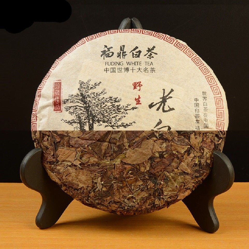 Fuding White Tea Organic Premium Aged 350g Shou Mei Long Life Eyebrow Cake Fuding White CHINA OLD BAI CHA GD18