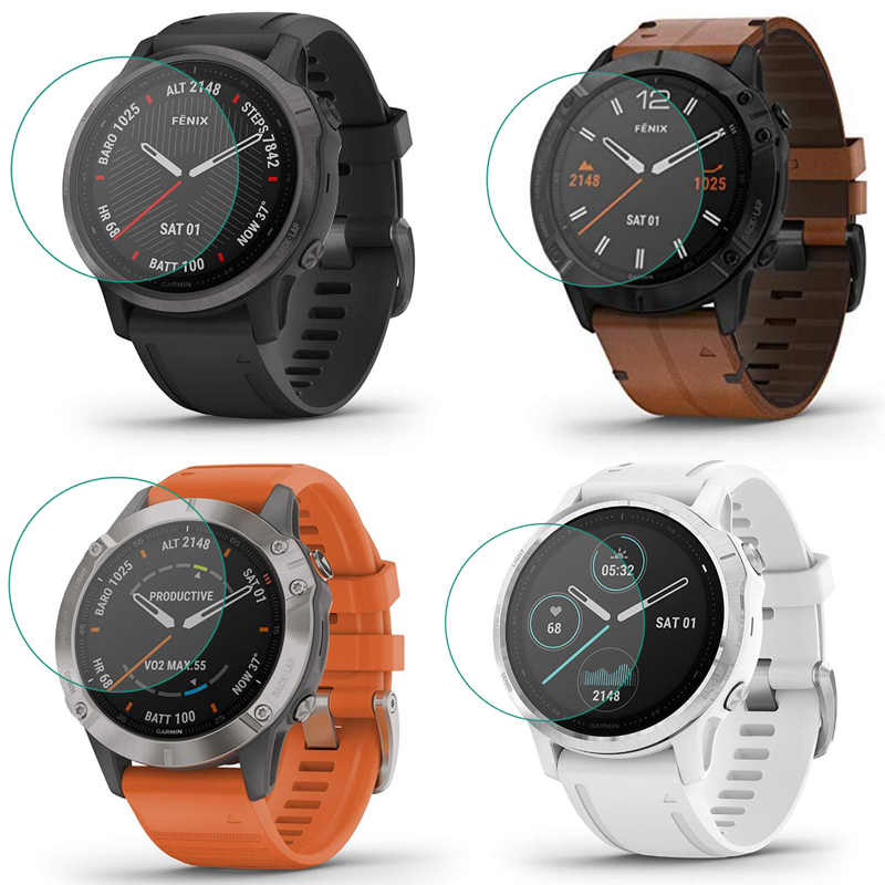 Tempered Glass Clear Protective Film For Garmin Fenix 6 6s 6x Shapphire/Pro Sloar Fenix6 Watch Screen Protector Cover Protection