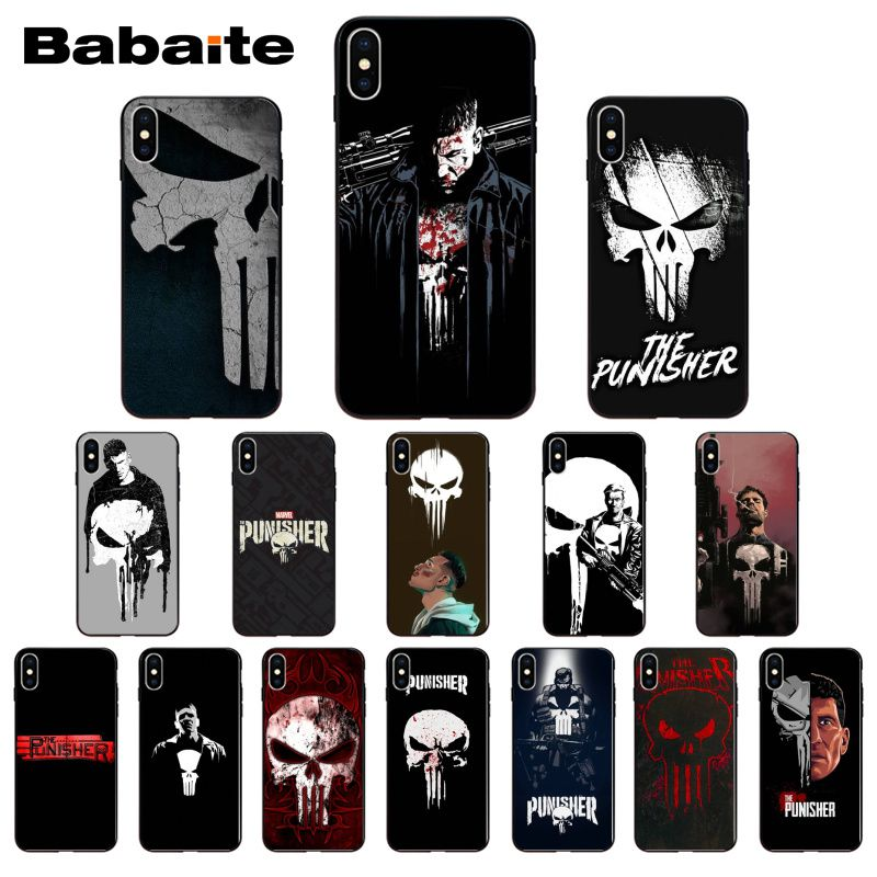 The Punisher Frank Castle Coque Shell Phone Case For iPhone 8 7 6 6S Plus 5