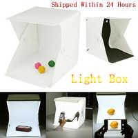 24cmPortable Mini Folding Lightbox Photography Studio Softbox LED Light Room Soft Box Camera Photo Background Box Light Tent Kit