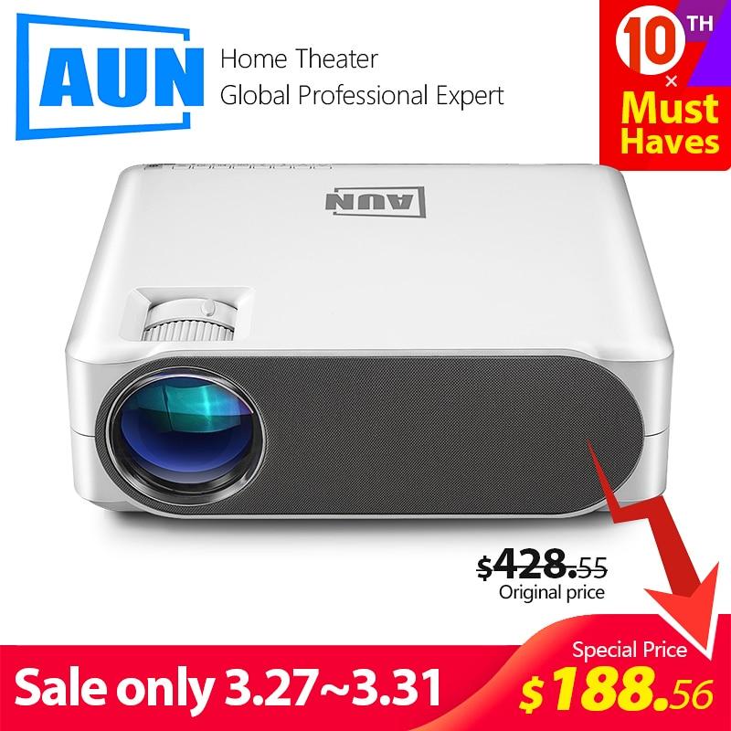 Aun completo projetor hd akey6s, 1920*1080 p, 6,800 lumens, android 6.0 wifi vídeo beamer, mini projetor led para cinema em casa 4 k 3d.