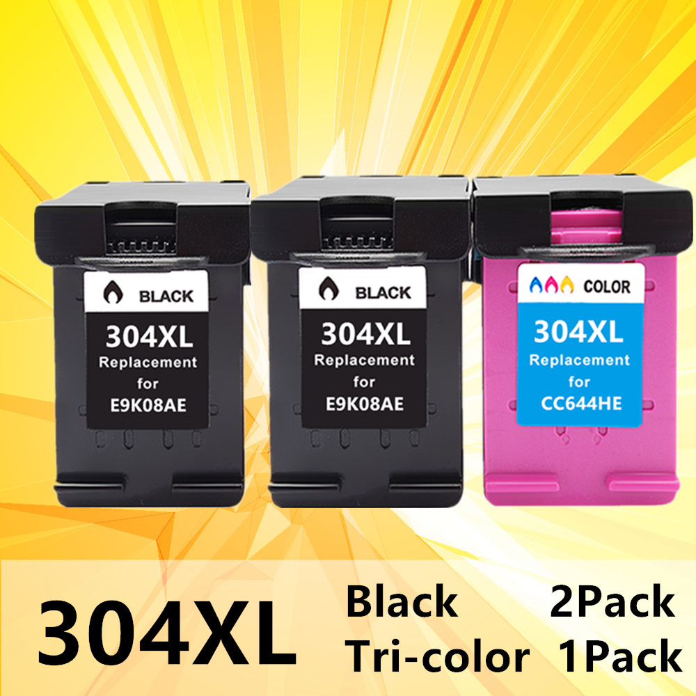 Ink Cartridge 304XL N9K08AE N9K07AE Hp304 Hp 304 Xl Deskjet Envy 2620 2630 2632 5030 5020 5032 3720 3730 5010 Printer
