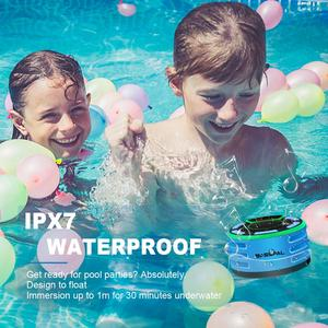 Image 3 - BassPal F013 Pro TWS Bluetooth Speakers IPX7 Waterproof Portable Wireless Shower Speaker with LED Display FM Radio Suction Cup