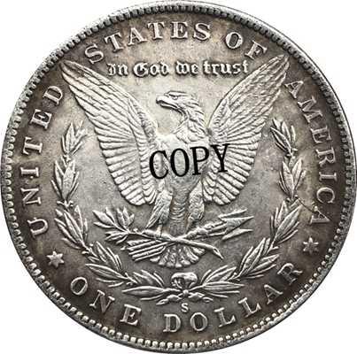Hobo Nikkel 1893-S Vs Morgan Dollar Munt Copy Type 158