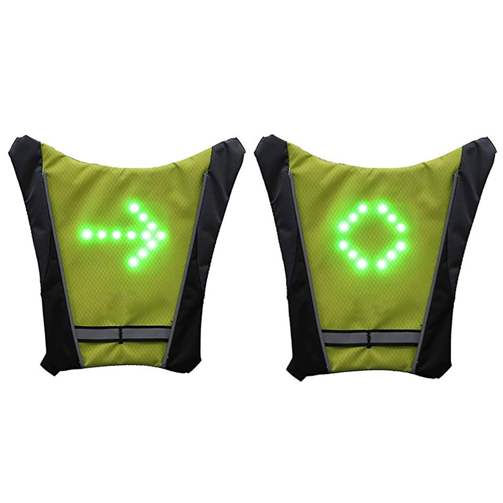 Bicycle LED Light Warning Backpack Flashing Turn Light Vest Lamp Riding Backpack Wireless With Remote Control For Traveling N5