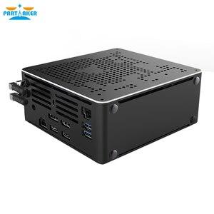 Jogo mini pc i9 9880 h 8 núcleo 16 threads 2 * ddr4 2666 mhz 2 * m.2 nuc windows 10 pro linux desktop computador ac wi-fi dp hdmi