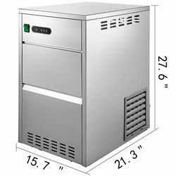 Snow Flake Ice Maker 88lbs/40KG 304 Stainless Steel Food Grade ABS 88 lb POPULAR