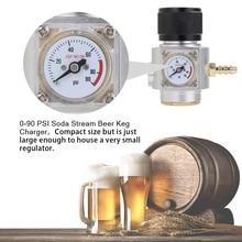 Soda CO2 Mini Gas Regulator 0 90PSI Keg Charger with T21*4 thread For Sodastream co2 Bottle Draft Beer Kegerator Soda