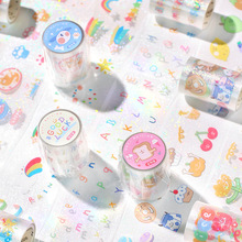 1Roll PET Transparent Tape Adhesives Tapes Animal Pattern Cartoon DIY Decorative Stickers Sticky Scrapbook Masking Lable Paper