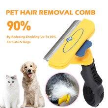 Aismart confortável pet depilação pente gatos cão grooming pente filhote de cachorro gatinho cabelo derramamento trimmer pentes animais de estimação grooming ferramentas