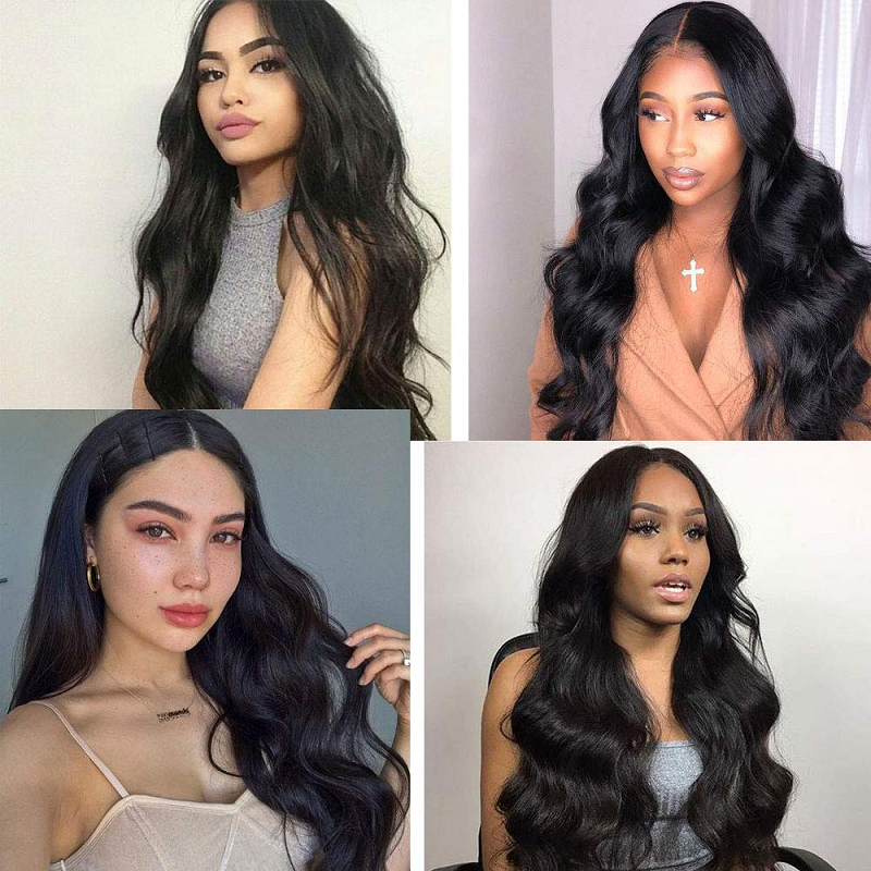 Natural Wave Wig Brazilian Virgin Human Hair Wigs Pre Plucked For Black Women 28 Inch Long Wig Full Machine Made Wig Natural Wig