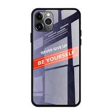 YUNAO Phone case For iphone series Gradient color glass protection discolor 11 6.1Inch Pro XS XR