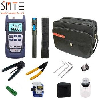 Juego de 12 unidades de herramientas ópticas para FTTH, con filtro de fibra de SKL-8A y medidor de Potencia Óptica, localizador Visual de fallos en 5km