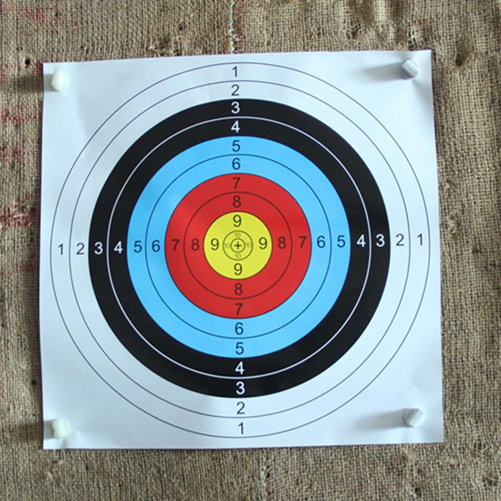 10Pcs 60x60cm Full Ring Arrow Bow Shooting Target Faces Accurate Prop Archery Darts Paper Durable Practice Archery Target Paper