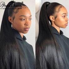 Пряди человеческих волос 9A PromQueen, индийские волосы Remy, волнистые шелковистые прямые натуральные волосы для наращивания, бесплатная доставк...