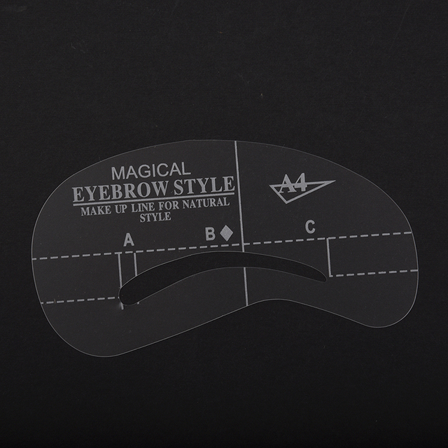 NEW-4 Styles Stencil Kit Make up Shaping Beauty Eyebrow Template Tools (A1-A4.) 3