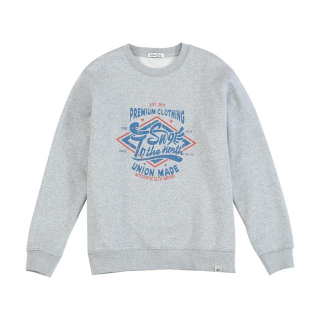Vintage Fleece Sweatshirts with Letter Print