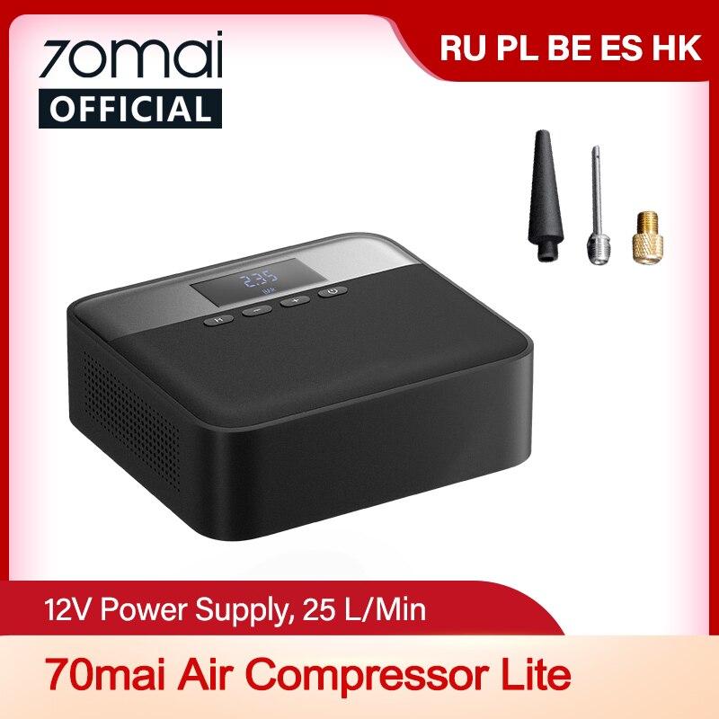 70mai Car Air Compressor Lite 70mai Protable Electric Car Air Pump Mini compressor Tire Inflator Auto Tyre Pumb 12V Data|Inflatable Pump| - AliExpress