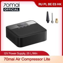 70mai-compresor de aire de coche Lite 70mai, bomba de aire eléctrica portátil, minicompresor, inflador de neumáticos automático, 12V, datos
