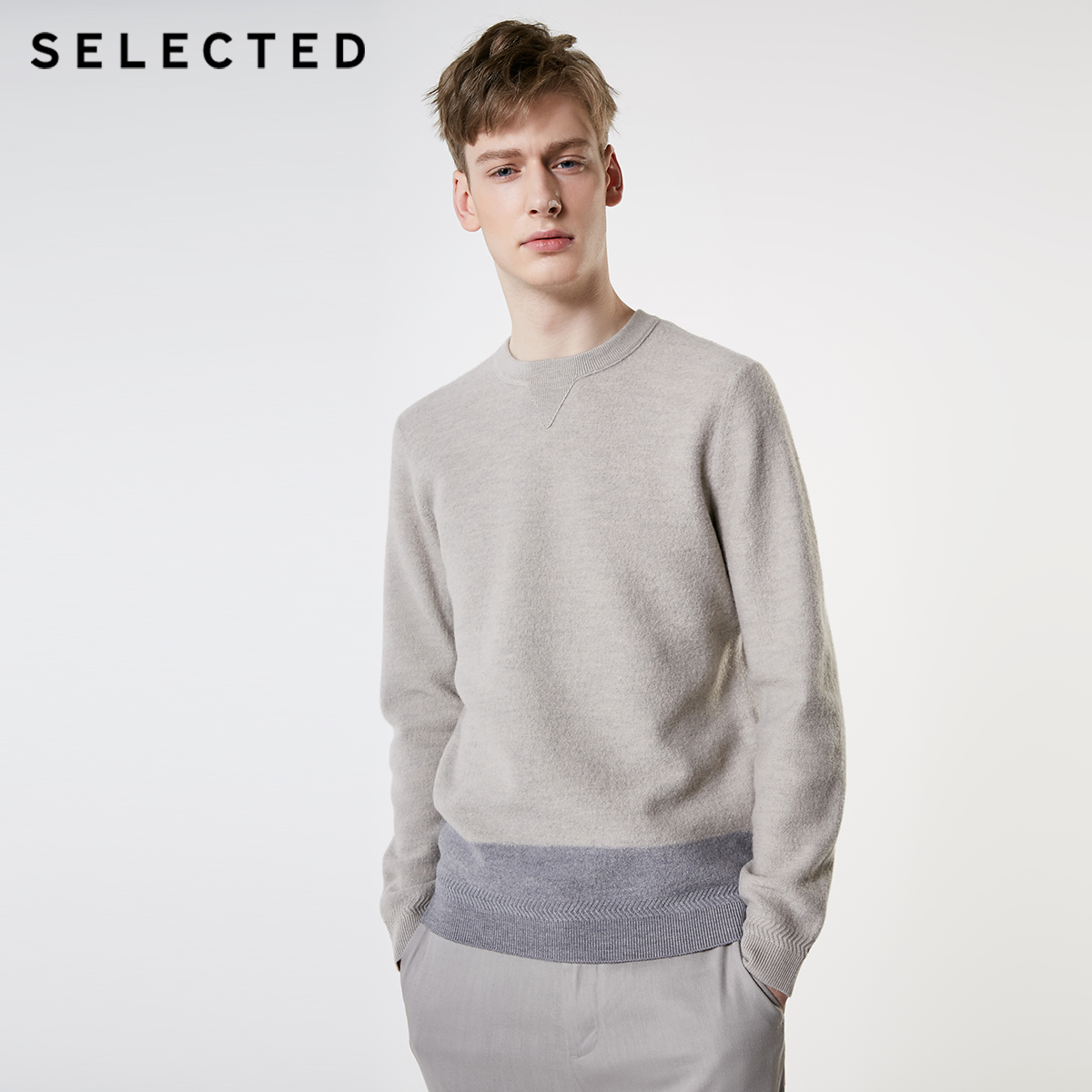 SELECTED Men's Woolen Assorted Colors Knit Clothes Round Neckline Sweater Pullover S | 419124560