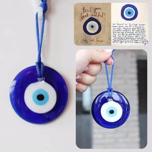 Blue-Lamp Eye-Charm-Pendant-Gift Work-Glass Kabbalah Evil Greek Lucky-Turkish Home-Amulet