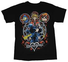 Kingdom Hearts Mens T-Shirt - Armored Mickey Sora 7 Goofy Donald Circles Cartoon t shirt men Unisex New Fashion tshirt(China)