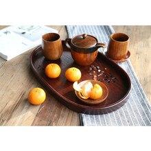 Новые продукты японский стиль эллипса-чайный поднос Вишня Деревянный креативный поднос напрямую от производителя деревянные столовые приборы