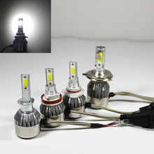 LED Cars Lamp H 1 3 4 7 9 11 9005 9006 COB 36W Headlight Bulbs 6000K Waterproof 12V 24V Styling Bulb Auto Headlights