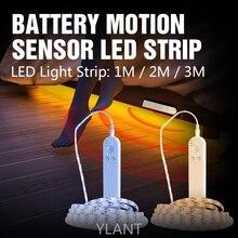 Ylant LED Strip With Motion Sensor DC5V Cabinet Lamp Tape Led Lights Waterproof Battery Connector LED TV For Room Light