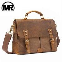 MARKROYAL-Bolso de mensajero Vintage de cuero de Caballo Loco, maletín para ordenador portátil, cruzado, Dropshipping