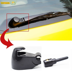 Rear Window Wiper Arm Cover Cap Washer Nozzle Jet Set For VW Polo Caddy Golf Passat Touran 2003 2004 2005 For Skoda Octavia