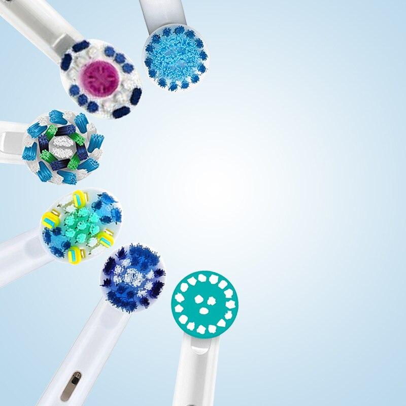 Têtes de brosse à dents électrique Oral B pour brosse à dents électrique rotative tête de brosse à dents remplacée 4 pc/paquet ou 8 pc/Pcak