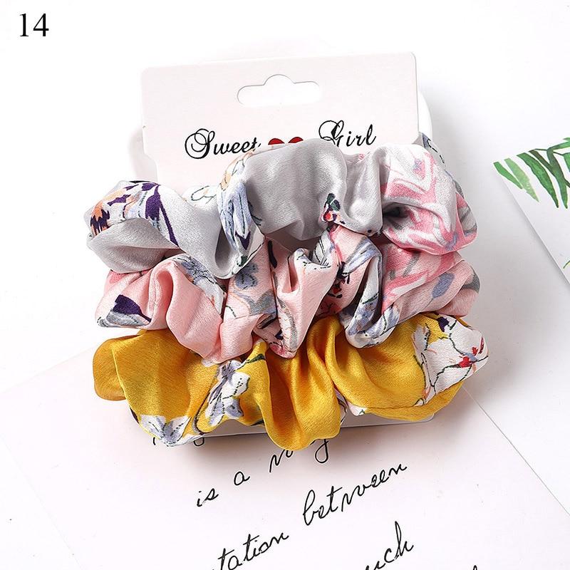 1 комплект резинки для волос кольцо для волос карамельного цвета Веревка для волос осень-зима женский хвостик аксессуары для волос 4-6 шт. ободки для девочек Подарки - Color: A14