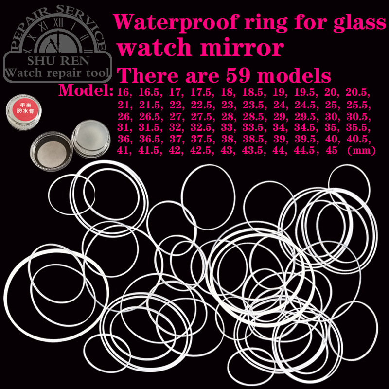 Repair Watch Parts, Watch Parts Kit, Glass Dial Waterproof Ring, A Variety Of Optional Waterproof Ring, Watch Sealing Ring
