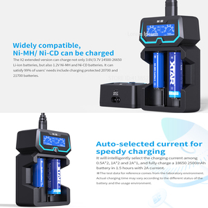 Image 2 - XTAR Extende X2 Fast Charger For 1.2V NI HM NI CD 3.6V 14500 26650 18650 Batteries Protected 21700 Batteies Battery Charger 2020