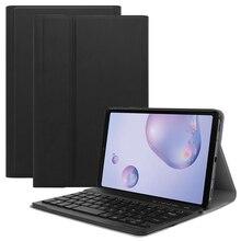 สำหรับSamsung Galaxy Tab A 8.4 นิ้ว 2020 แท็บเล็ตแป้นพิมพ์กรณี 7 สีBacklitแม่เหล็กที่ถอดออกได้บลูทูธแป้นพิมพ์USA