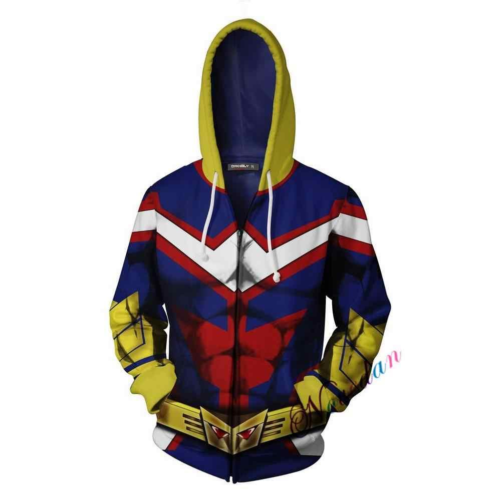 3D Gedrukt Mijn Hero Academia Hoodie Mannen Vrouwen Anime Boku Geen Hero Academia Alle Misschien Cosplay Kostuum Sweatshirt Schooluniform