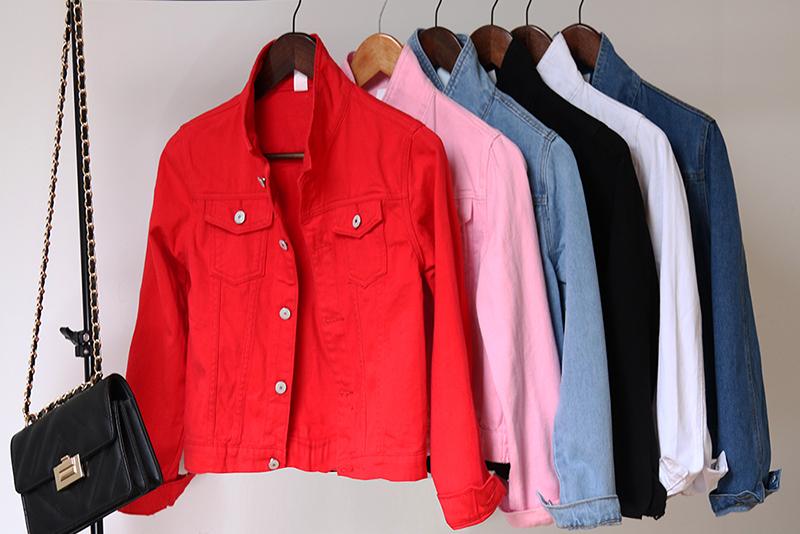 Jeans Jacket and Coats for Women 2019 Autumn Candy Color Casual Short Denim Jacket Chaqueta Mujer Casaco Jaqueta Feminina (1)