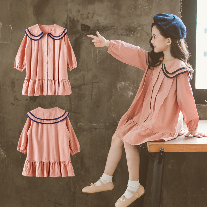 Girls Dress Kids Dresses Toddler Girl Dress for Girl Long Sleeve Autumn Fall 3 4 5 6 7 8 10 12 Years Princess Little Baby Dress