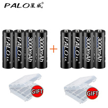 PALO NI-MH AA high capacity Low self-discharged battery 1.2V AA rechargeable battery for Remote Controller Electric Shaver Radio 6v 2400mah aa ni mh battery with charger high capacity electric toy battery remote car ship robot rechargeable 6 v 2400 mah