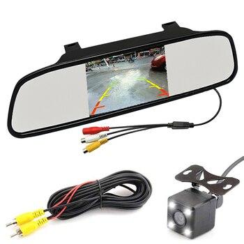 2019автомобильное парковочное зеркало монитор 5 дюймов HD дисплей 800*480 ЖК-видео заднего вида для камеры заднего вида Система помощи при парков...