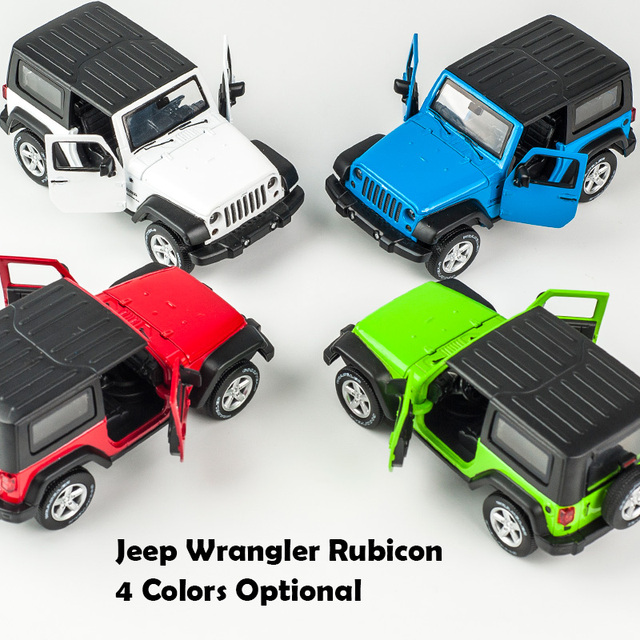 1:32 Jeep Wrangler Rubicon Alloy Model Car Diecasts Metal Toy Off-road Vehicles Model Collection High Simulation Kids Toy Gift 5