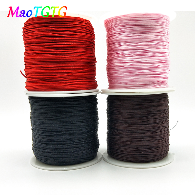 0.4mm/0.8mm Cotton Cord Nylon Cord Beading Thread For Jewelry Making DIY Bracelets&Necklaces 100M/200M Nylon Cord Beading Thread