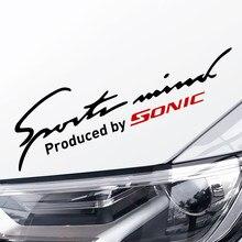 Auto decoração adesivos para chevrolet sonic carro de corrida farol acessórios do carro esporte lâmpada sobrancelha decalques do corpo do carro decalques