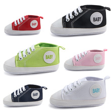 New Fashion Baby First Walkers Cute Newborn Kid Canvas Sneakers Baby Boy Girl Soft Sole Crib Shoes Pre Walkers Toddler Shoes cheap CN(Origin) Shallow Spring Autumn Slip-On Solid Unisex Fits true to size take your normal size