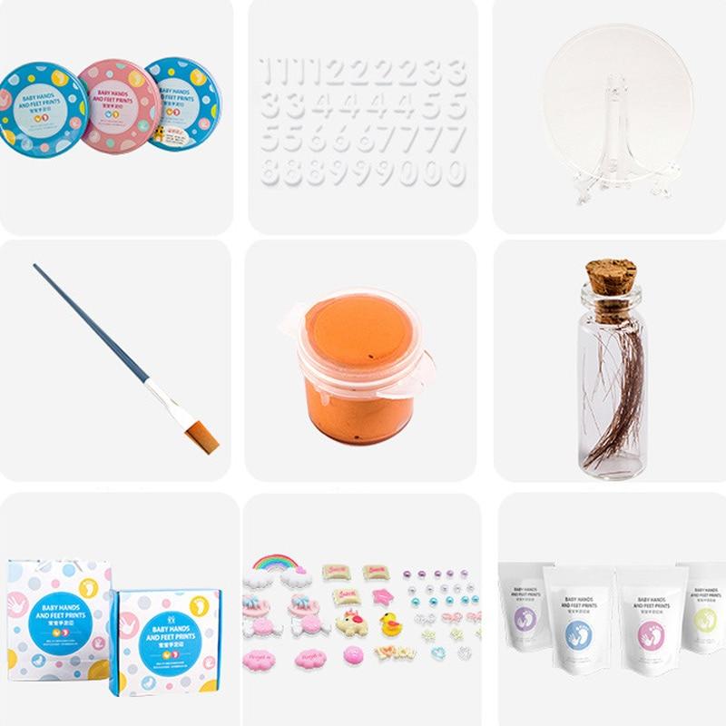 High Quality Baby Handprint Footprint Kit Newborn Baby Photo Album Personalized Footprint Decorations Box