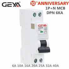 Free Shipping GEYA GYM9N DPN MCB 1P+N 6A 10A 16A 20A 25A 32A 40A 220V AC Mini Circuit Breaker