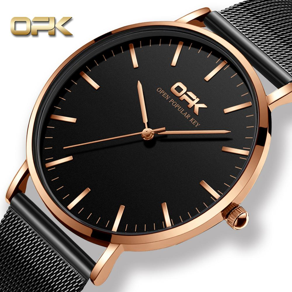 2020 Minimalist Men's Fashion Ultra Thin Watches Simple Business Clock Stainless Steel Mesh Belt Quartz Watch Relogio Masculino