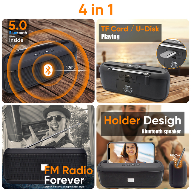 Altavoz Bluetooth portátil 2